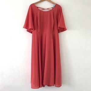 TORRID | Coral Chiffon Summer Mini Dress